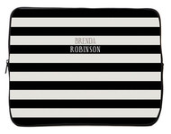 Black and Khakis Stripes iPad and Laptop Sleeves