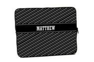 Black and White Stripes iPad and Laptop Sleeves