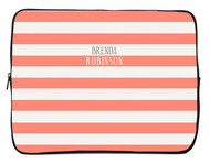 Peach Stripes iPad and Laptop Sleeves