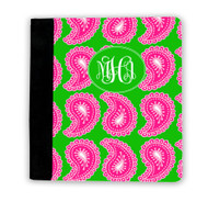 Hot Pink and Green Paisley iPad Jackets