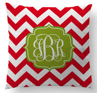 Holiday Chevrons Custom Designer Pillows