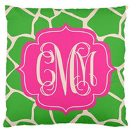 Apple Giraffe Monogram Custom Designer Pillows