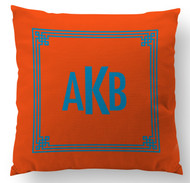 Greek Square - Solid Orange Custom Designer Pillows