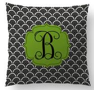 Black Waves Custom Designer Pillows