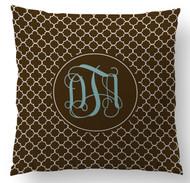 Chocolate Clover Custom Designer Pillows