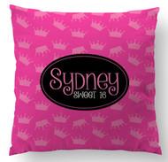 Crowns on Pink Custom Designer Pillows