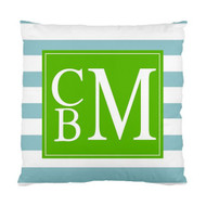 Beach Stripes Monogram Custom Designer Pillows