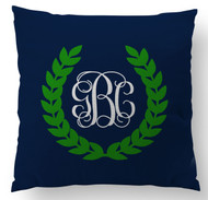 Monogram Crest Custom Designer Pillows