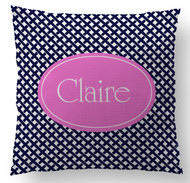 Interlocking Name Custom Designer Pillows