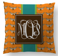 Orange Bees Custom Designer Pillows
