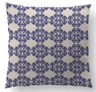 Periwinkle Frilly Custom Designer Pillows