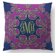 Radiant Orchid Vintage Pop Custom Designer Pillows