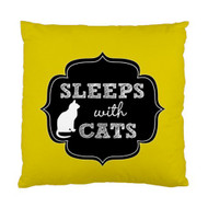 Sleeps with Cats Custom Designer Pillows