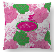 Sorority Rose Custom Designer Pillows