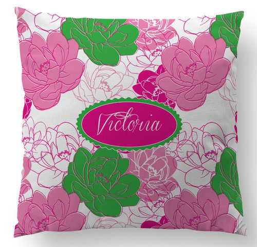 Sorority Rose Custom Designer Pillows