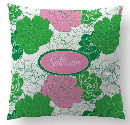 Sorority Rose II Custom Designer Pillows