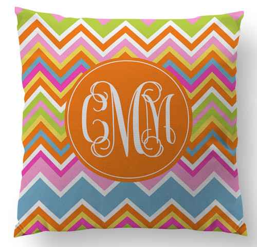 Summer Chevron Custom Designer Pillows