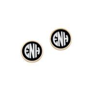 Black Josie Earrings - Gold