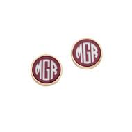 Post Earrings - Garnet