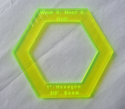1 5 inch hexagon template - 1 hexagon templates want it need it quilt store