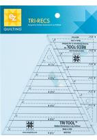 8823753A EZ Quilting Tools Tri Recs Acrylic Tools  Tri Recs quilting template contains two triangles and instruction booklet to easily show how to make triangle designs within squares for all your quilting needs.