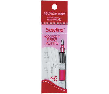 Handy pack of 6 nib refill for the the Sewline Aqua Eraser.