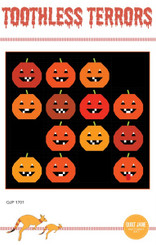 "A cheeky Halloween quilt for your wall or sofa. 68 1/2"" x 65 1/2""  Skill: Confident Beginners to advanced quilters."