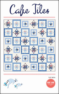 """Cafe Tiles  Finished Quilt Size 72 ½"""" x 72 ½""""  Finished Block Size 12"""" x 12""""    'As I sipped tea from a chine cup and ate scones with jam and cream, I gazed down on the floor of the quaint cafe. '   A perfect sized throw quilt for the confident beginner and beyond.     Requirements  The cover quilt uses fabrics from The Bloomsbury collection by Franny & Jane for Moda. These fabrics can be easily replaced by your favourite prints."""