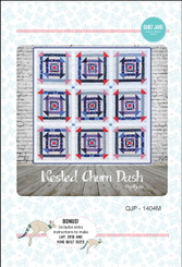 Nested Churn Dash Quilt - PDF