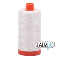 Aurifil 50wt mako cotton - 2026 Chalk - 1300m