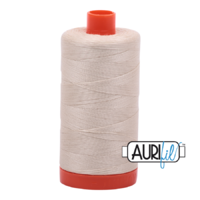 Aurifil 50wt mako cotton - 2310 light beige - 1300m
