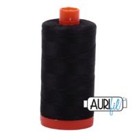 Aurifil 50wt Cotton 1300m - Very dark grey 4241