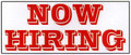 Now Hiring Ready-Made 3'x7'  Banner