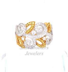 18K Yellow Gold Diamond Fancy Ring  11000958