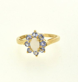19000174 10K Yellow Gold Opal/CZ  Ring