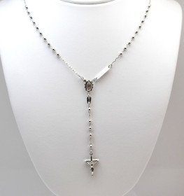 14K White Gold 16 inches Rosary Chain