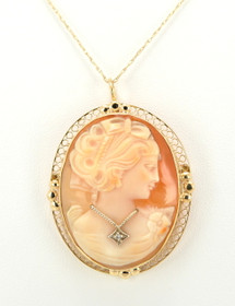 52001426 14K Yellow Gold Cameo Pendant