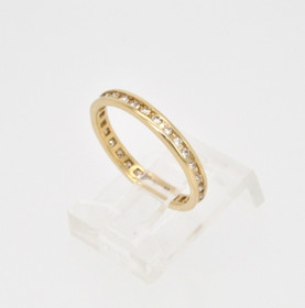 14K Yellow Gold Diamond Wedding Band 11000087
