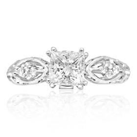 18K White Gold 1.01ct Diamond Engagement Ring
