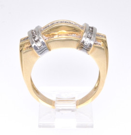 11002808 14K Two Tone Gold Diamond Men's Ring