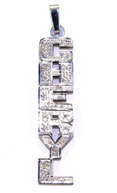 "14K White Gold 0.20ctw Diamond ""Cheryl""Name Plate 33300021"