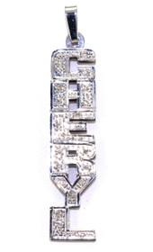 "14K White Gold 0.20ctw Diamond ""Cheryl""Name Plate 33300021"