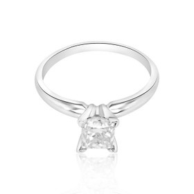 14K White Gold 0.96 ct  Diamond Engagement Ring