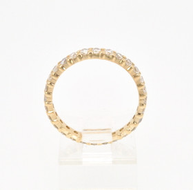 12001716 14K Yellow Gold CZ Eternity Wedding Band