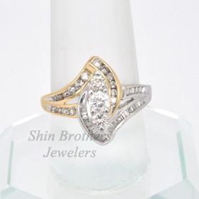14K Two Tone Gold Diamond Fancy  Ring 11002545
