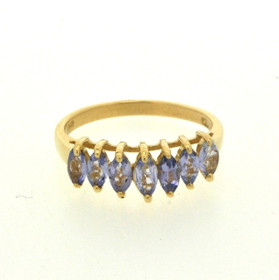 19000160 10K Yellow Gold Tanzanite Ring
