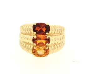 12002074 10K Yellow Gold Red, Orange and Yellow Topaz Ring