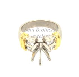 Platinum/18KT Gold Diamond Engagement Ring Settings
