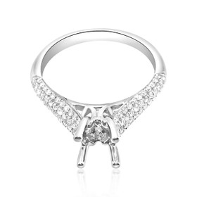 18K White Gold 0.42ct Diamond Engagement Ring Setting