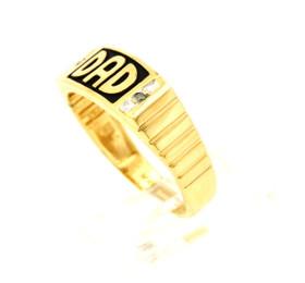 11003668 14K Yellow Gold Diamond Dad's Ring
